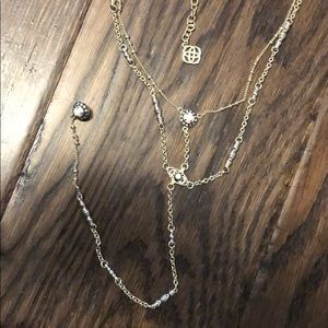 Kendra scott silver lariat necklace